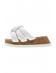 AllPro white knot sandals