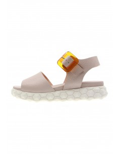 Surreal nude buckle sandals