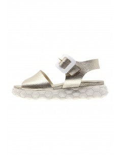 Surreal golden buckle sandals