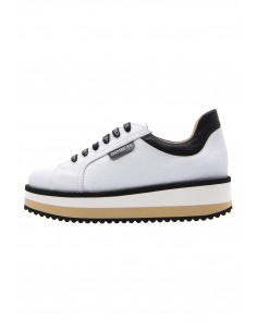 Line white sneakers with...