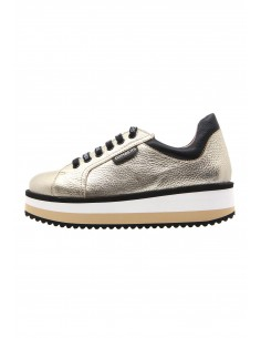 Line golden sneakers with...
