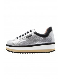 Line silver sneakers with...