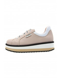 Line nude sneakers with...
