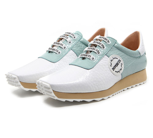Buy online Talent white / aqua green sports shoe