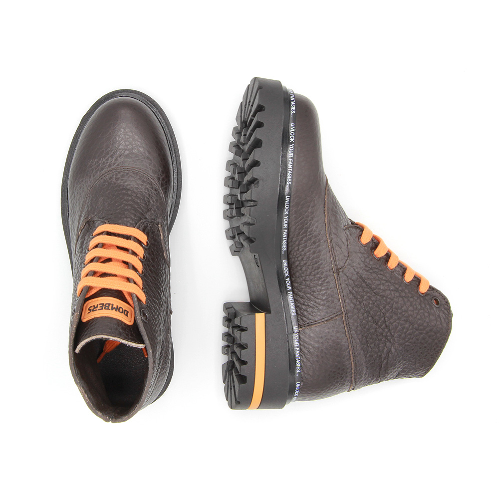 Limitless brown boots track sole