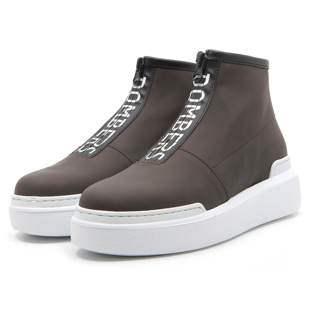 Tech brown leather sport boots