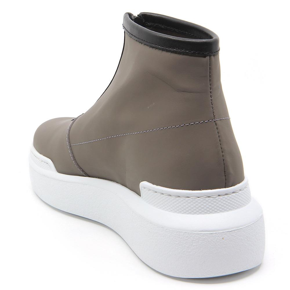 Tech taupe leather sport boots