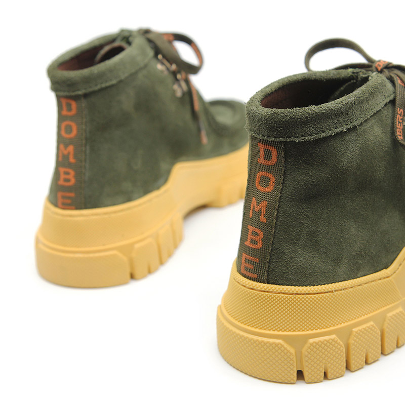 Green sports track ankle boots for women - Essence