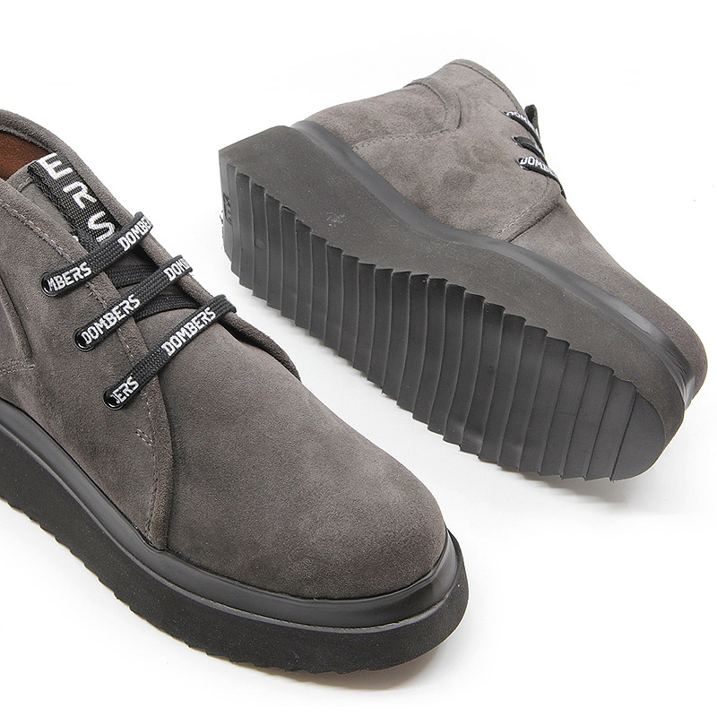 Grey suede platform ankle boots for women - Futura