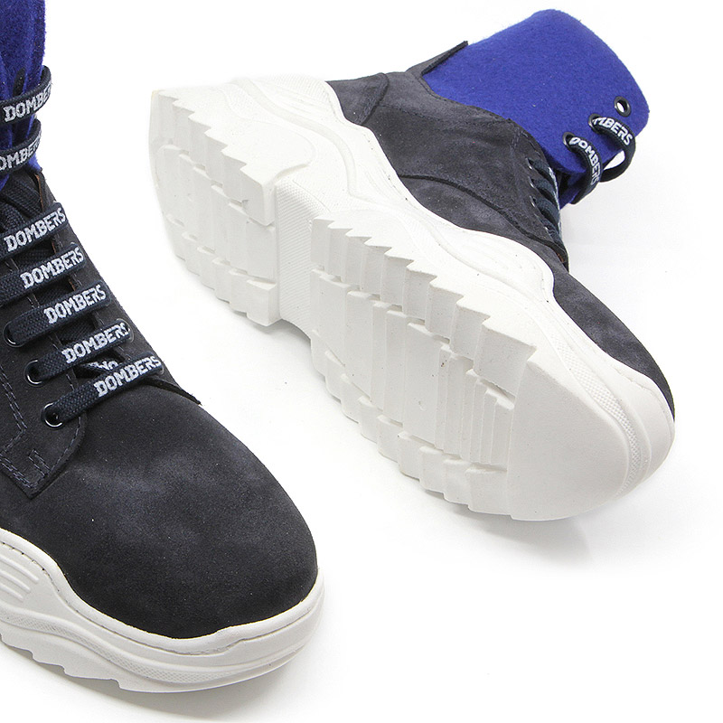 Navy blue platform ankle boots for women - Impulse
