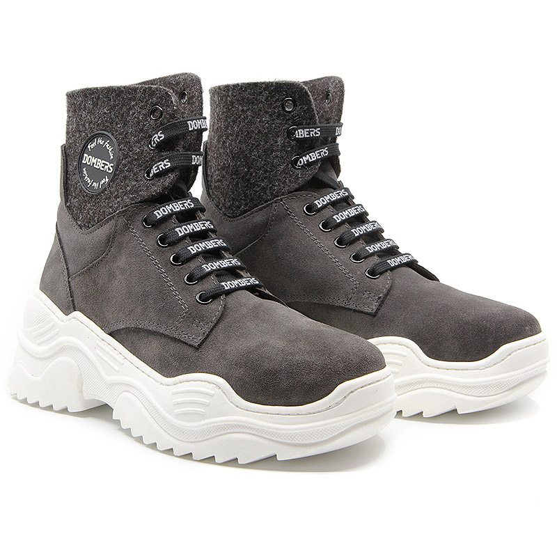 Ankle boots with gray platform for women - Impulse