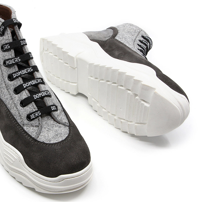 Grey suede platform high top for women - Universe