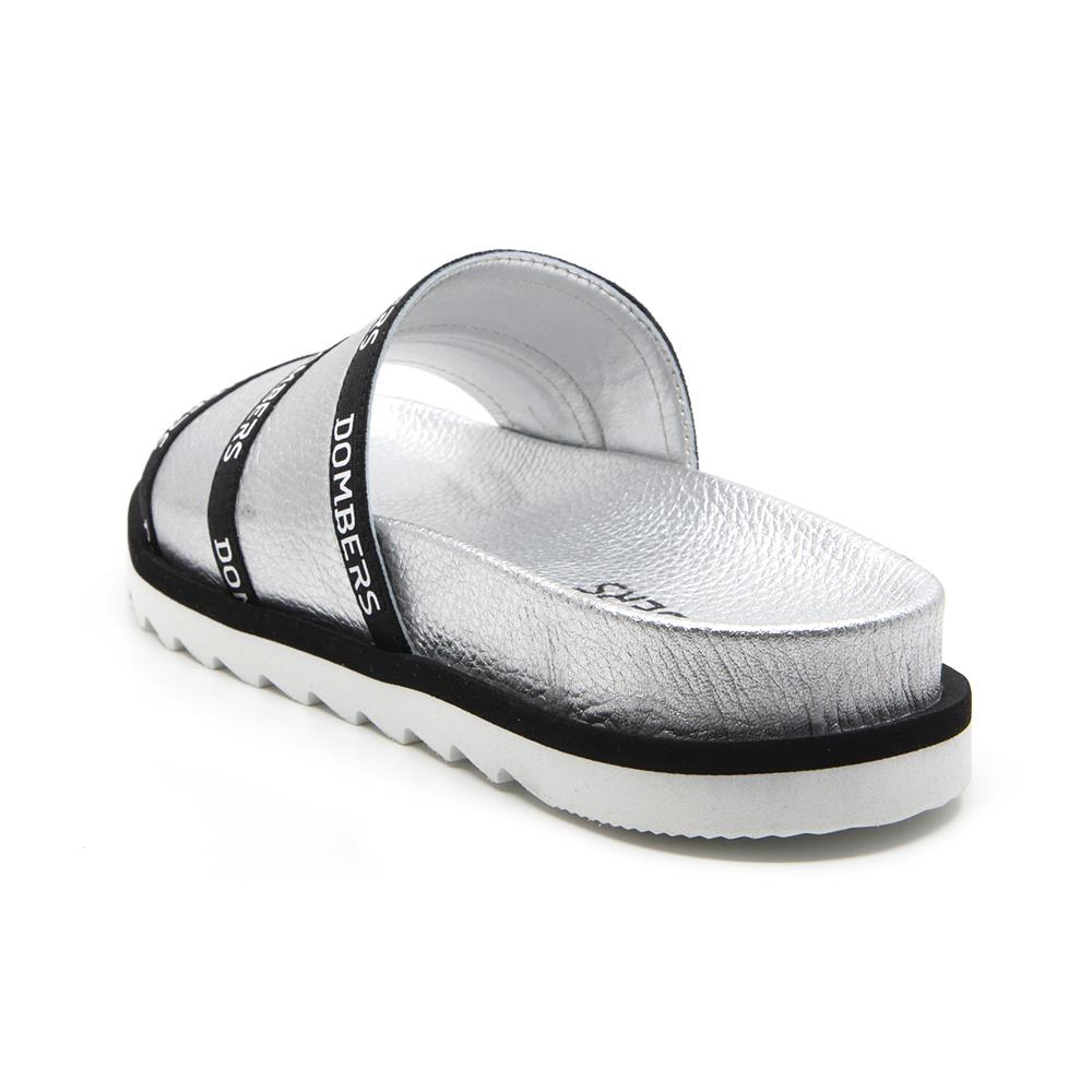 Lookup sandals silver color on micro bicolor black and white floor