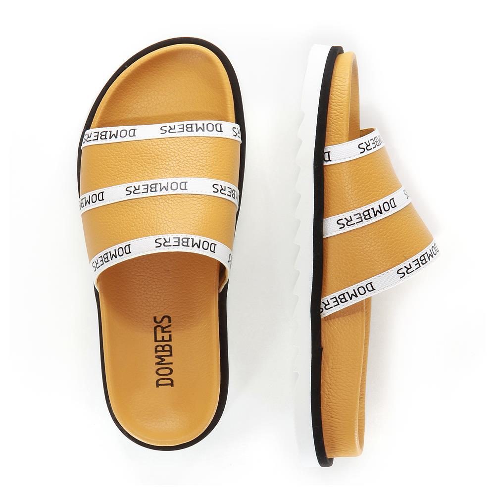Ochre Lookup sandals on micro bicolor black and white floor