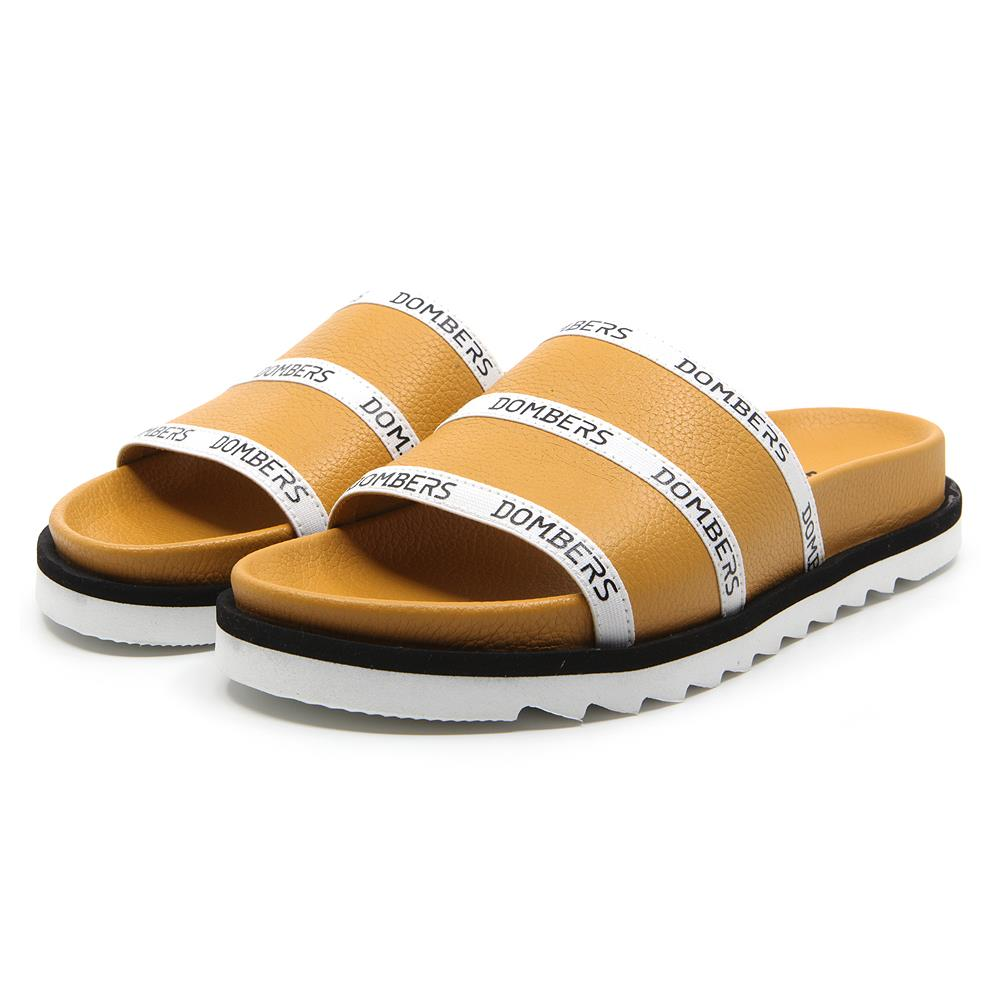 Mustard Lookup sandals on micro bicolor black and white floor