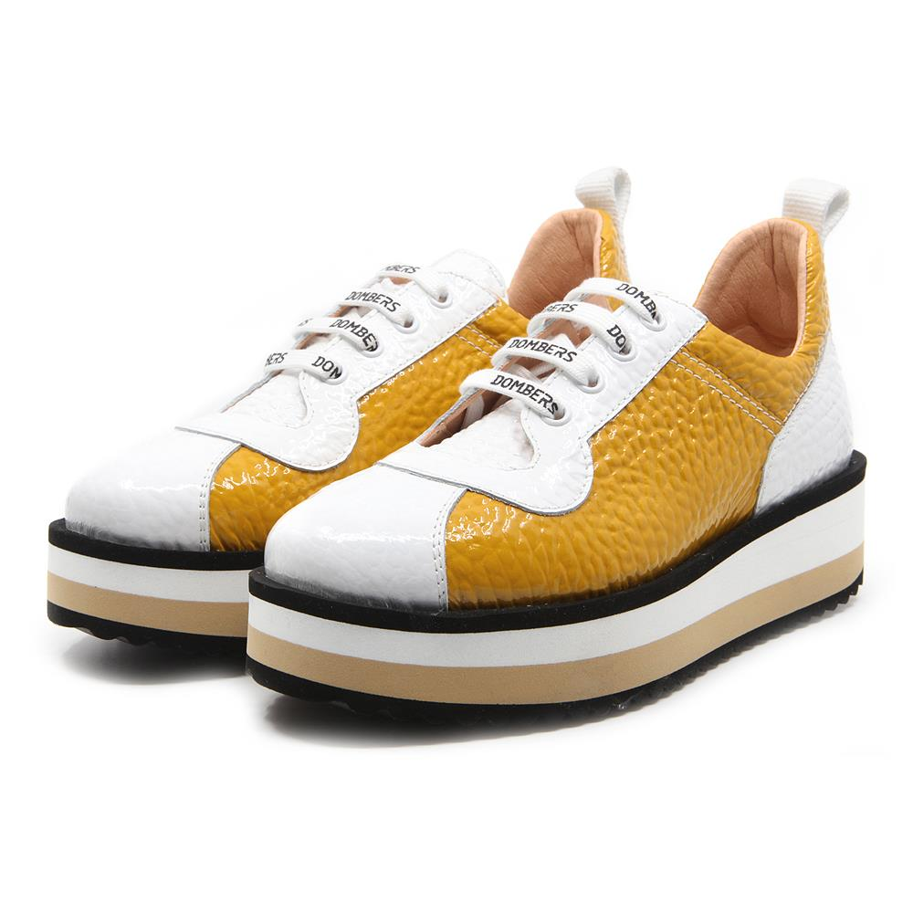 Pulse sneakers bicolor mostaza / blanco