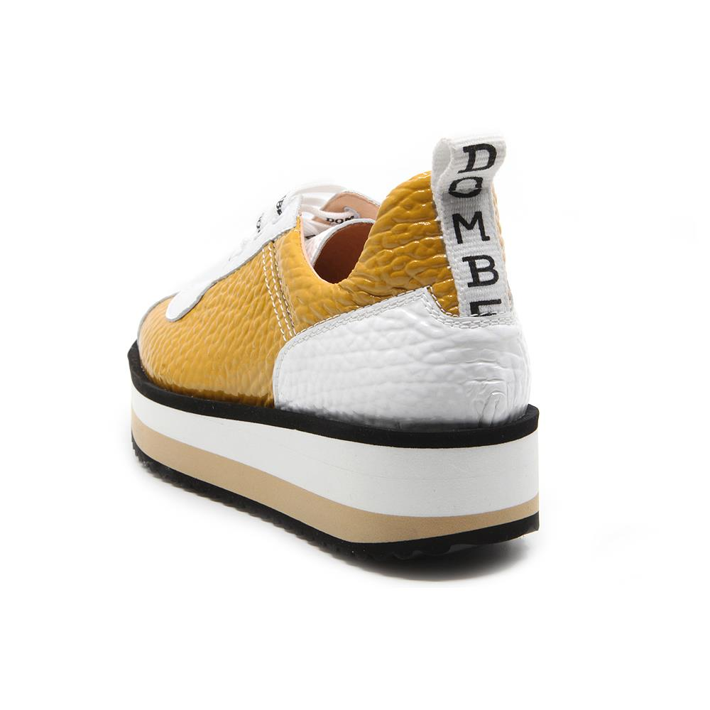 Pulse sneakers bicolor mostaza/ blanco
