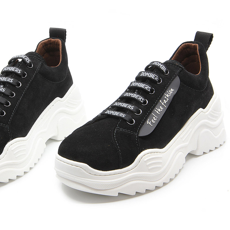 Black suede platform sneakers for women - Energy